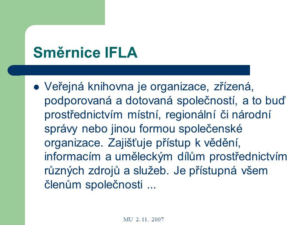 MU 2.11. 2007 Doplňování KF a inf.