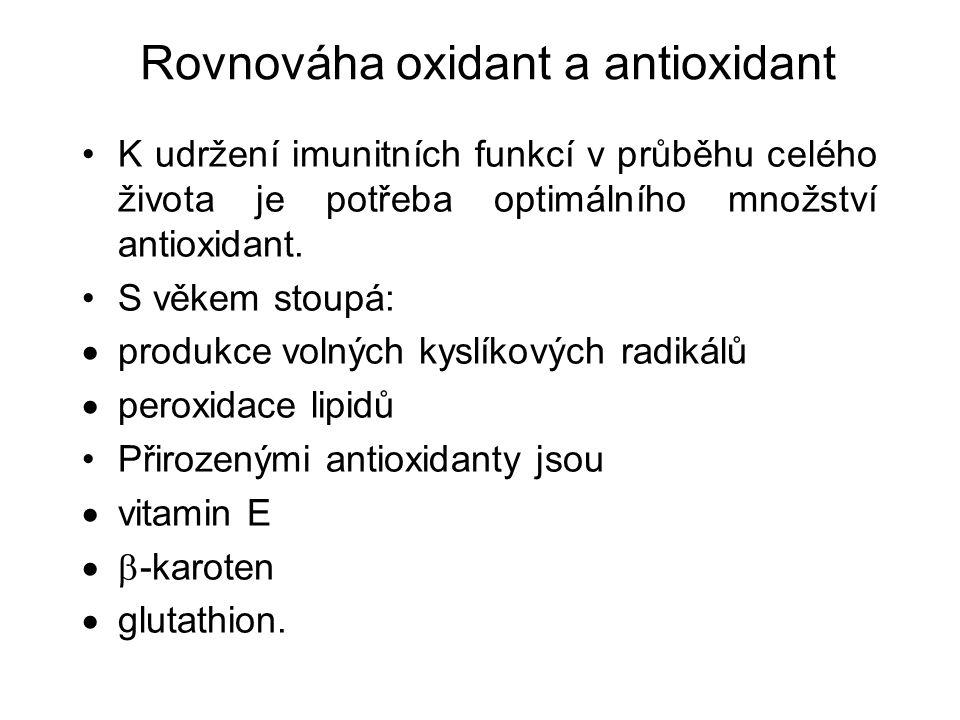 K udržení imunitních funkcí v průběhu celého života je potřeba optimálního množství antioxidant.