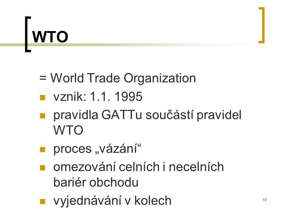 20 Členové WTO