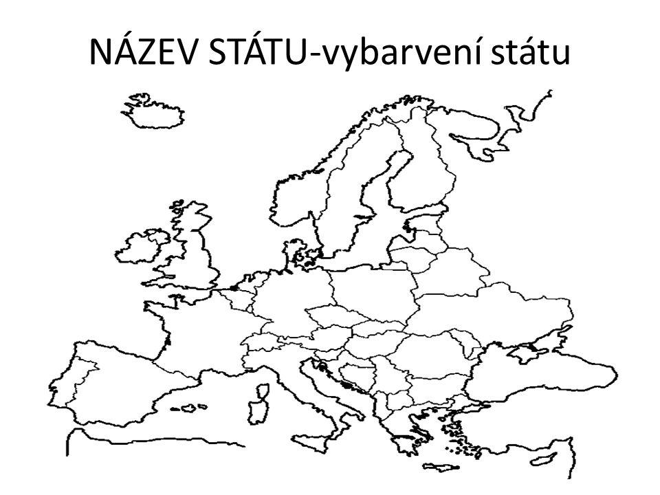 NÁZEV STÁTU-vybarvení státu