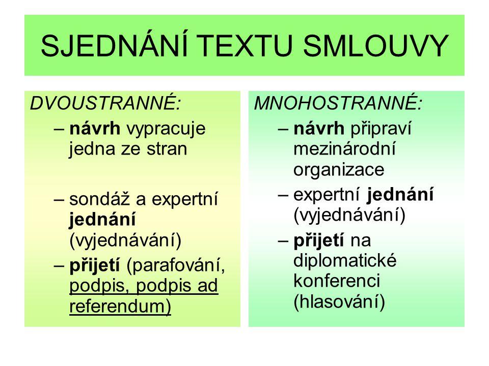 Jazyky smlouvy autentická znění alternáty český překlad ve Sbírce mezinárodních smluv