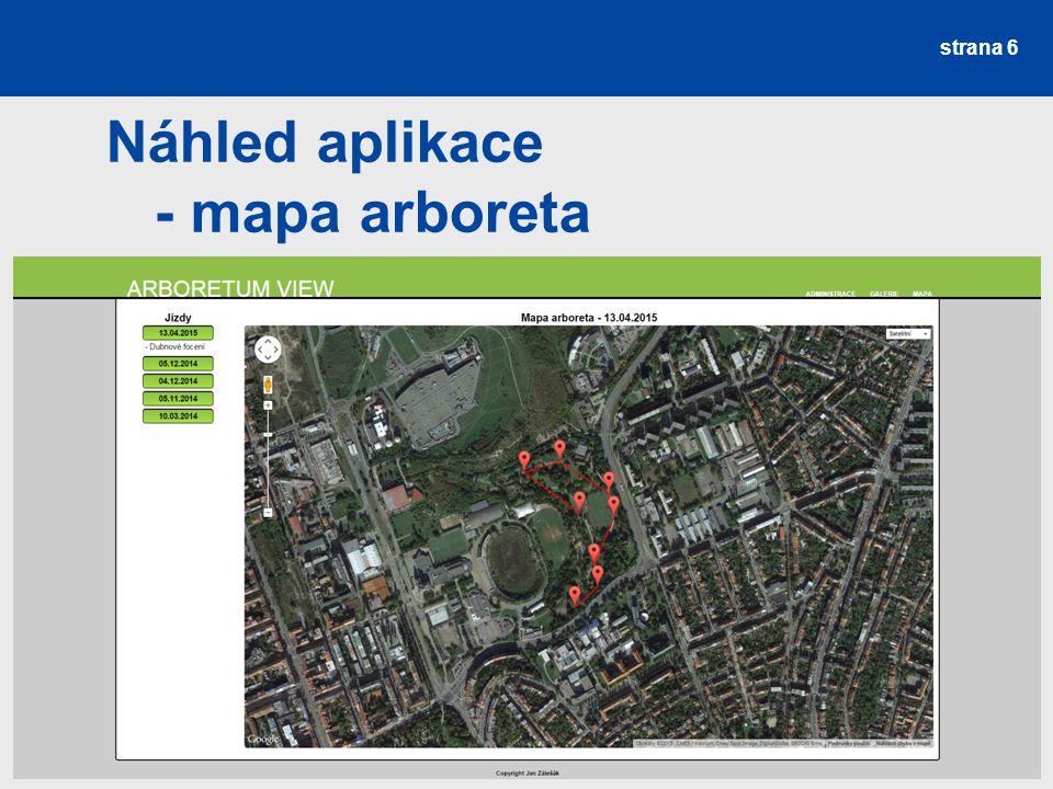 strana 6 Náhled aplikace - mapa arboreta