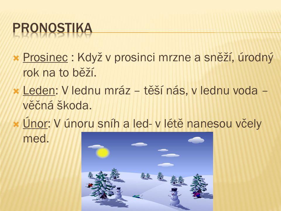 Zima začíná 21. prosince Zimní měsíce – prosinec, leden, únor