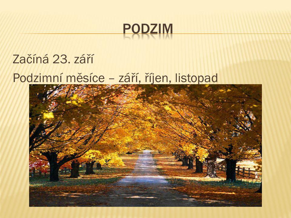 Začíná 23. září Podzimní měsíce – září, říjen, listopad