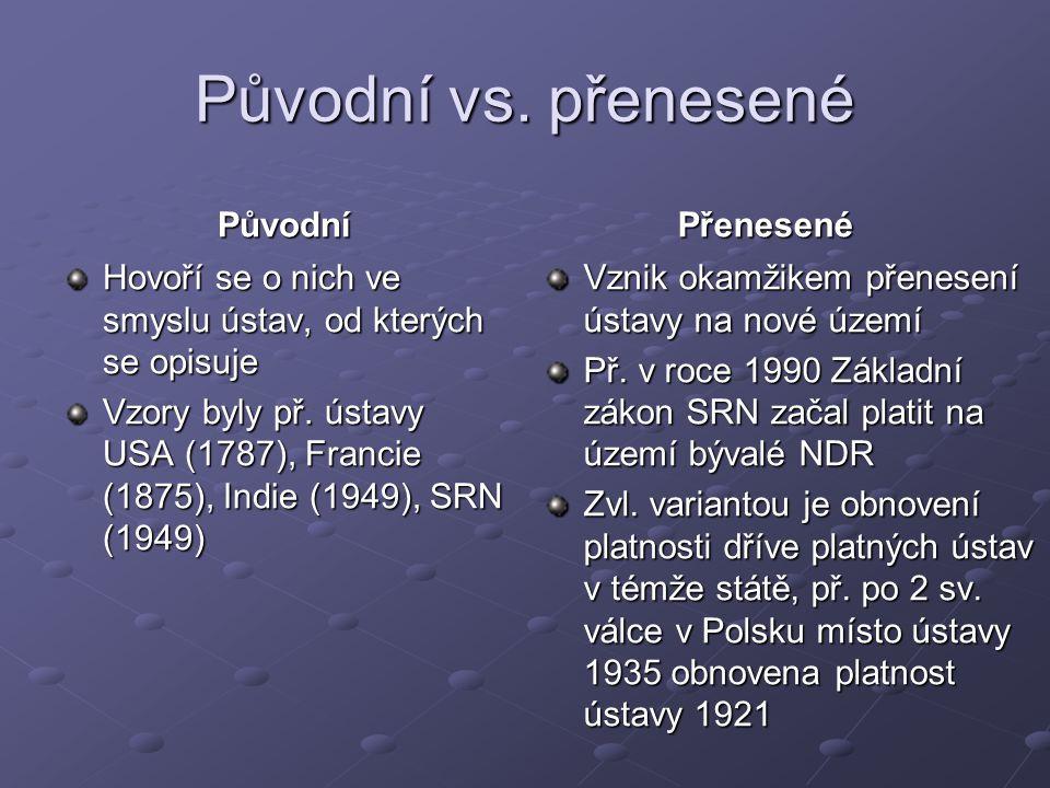 Původní vs.
