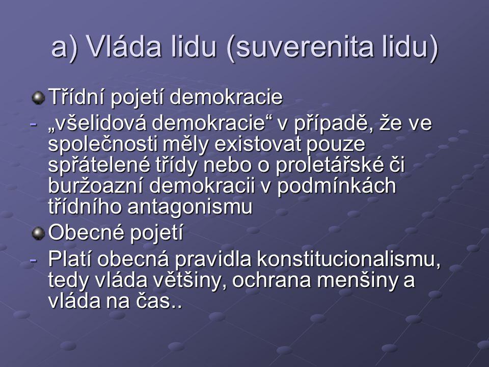 "b) Vláda pro lid ""demokracie ano, ale pro koho ."