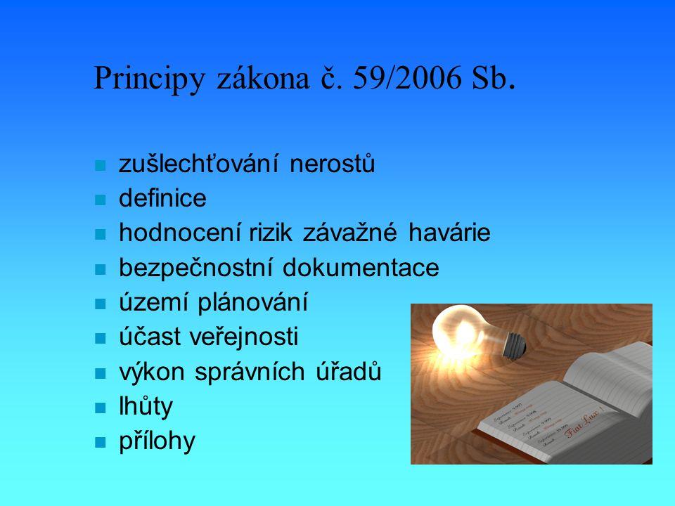 Principy zákona č. 59/2006 Sb.