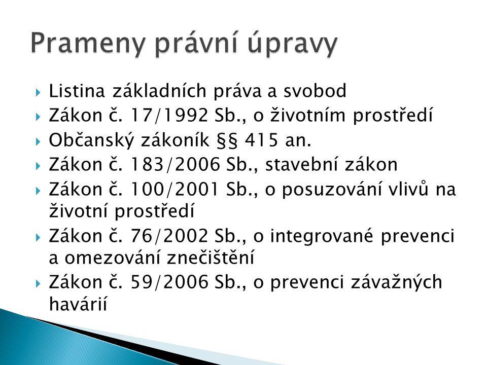  Listina základních práva a svobod  Zákon č.