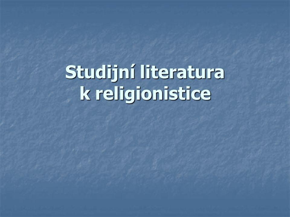 Studijní literatura k religionistice