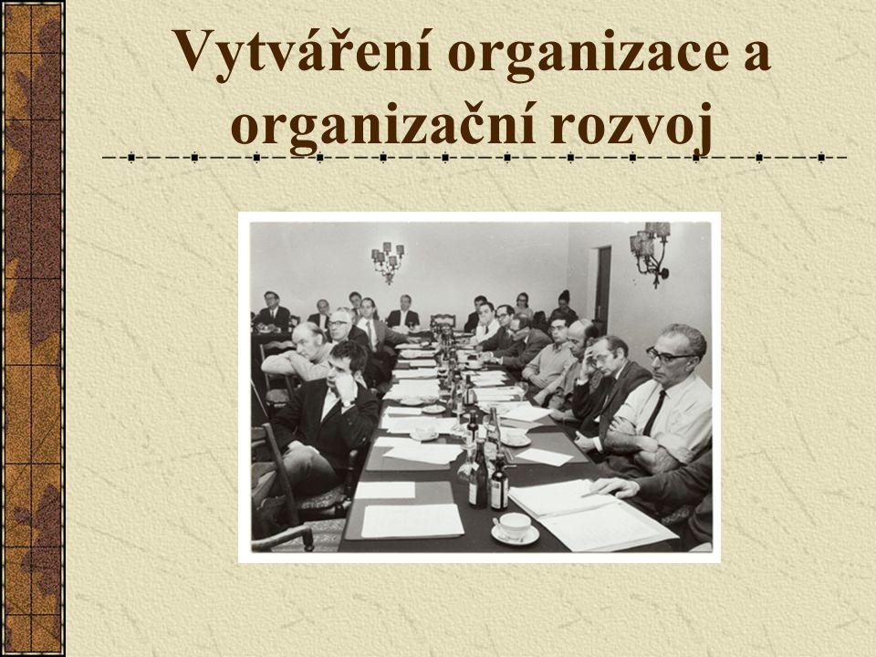 Vytváření organizace a organizační rozvoj