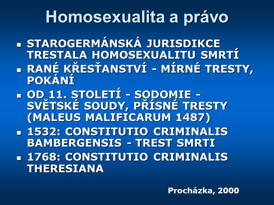 Homosexualita a právo STAROGERMÁNSKÁ JURISDIKCE TRESTALA HOMOSEXUALITU SMRTÍ STAROGERMÁNSKÁ JURISDIKCE TRESTALA HOMOSEXUALITU SMRTÍ RANÉ KŘESŤANSTVÍ - MÍRNÉ TRESTY, POKÁNÍ RANÉ KŘESŤANSTVÍ - MÍRNÉ TRESTY, POKÁNÍ OD 11.
