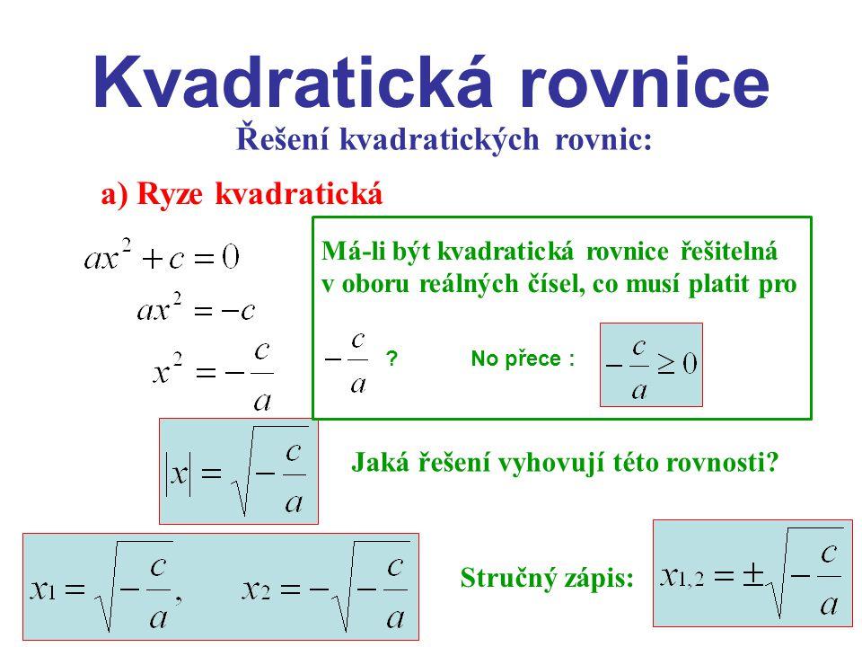 Citace: KOČOVÁ, Kamila.Kvadratická rovnice.