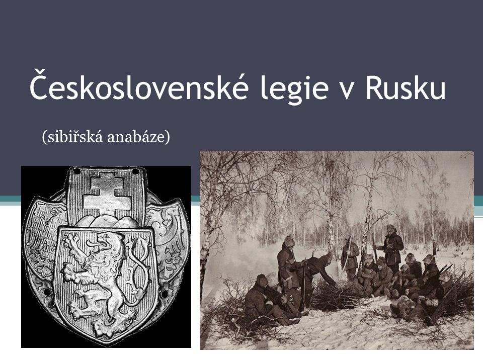 Československé legie- označení pro jednotky zahraničního vojenského odboje za 1.