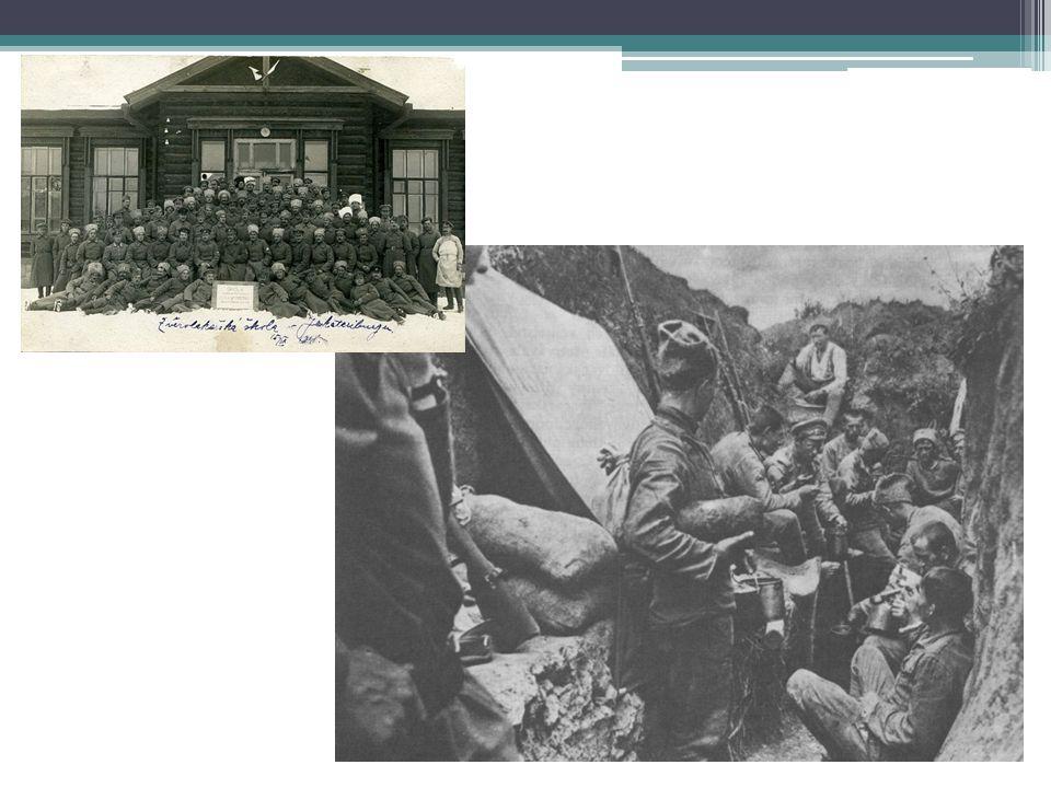 Sibiřská anabáze Komplikovaná situace legionářů po uzavření Brest-litevského míru (1918) Legionáři chtějí pokračovat ve válce proti Německu Čs.