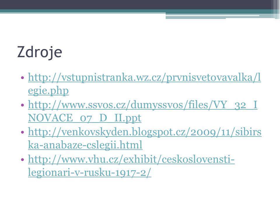 Zdroje http://vstupnistranka.wz.cz/prvnisvetovavalka/l egie.phphttp://vstupnistranka.wz.cz/prvnisvetovavalka/l egie.php http://www.ssvos.cz/dumyssvos/