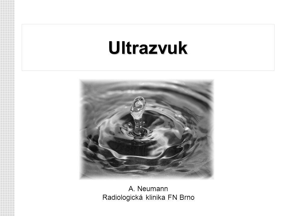 Ultrazvuk A. Neumann Radiologická klinika FN Brno