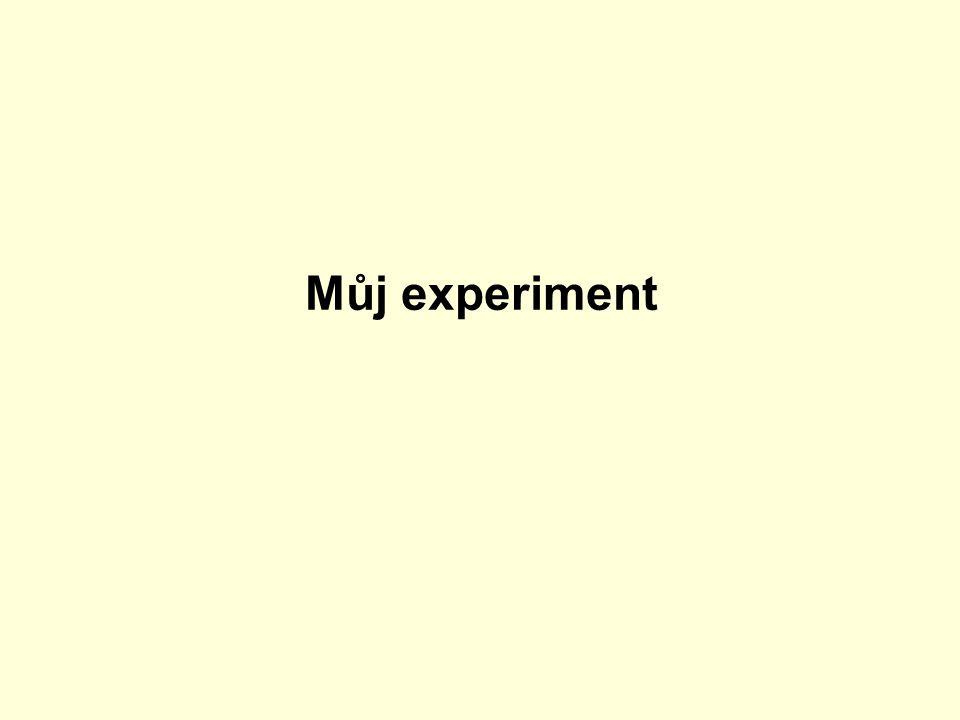 Můj experiment