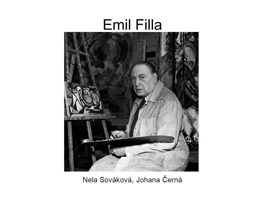 Emil Filla Nela Sováková, Johana Černá