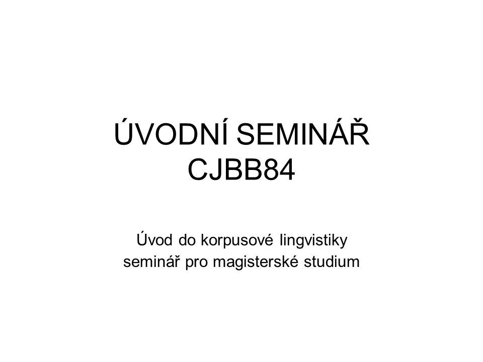 dnes náplň semináře požadavky k ukončení harmonogram studijní literatura