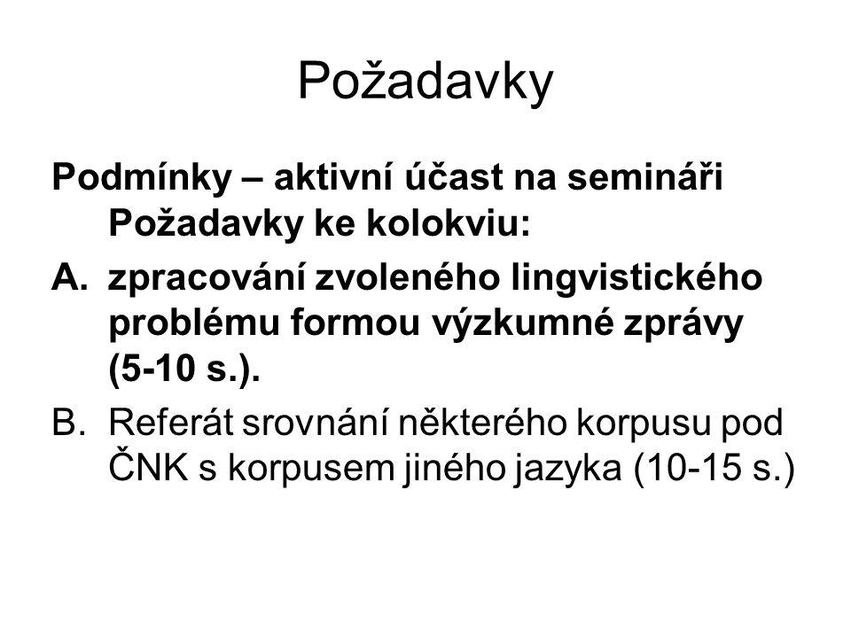 Práce v seminářích spuštění programu BONITO přihlášení vyvolání www ČNK paralelní práce s návodem