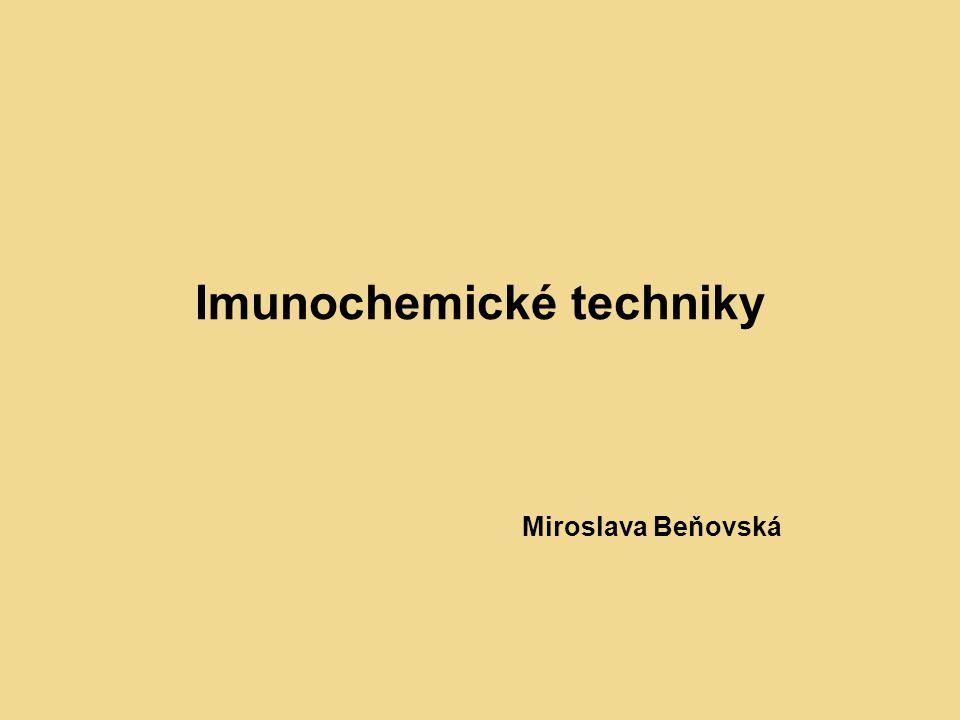 Imunochemické techniky Miroslava Beňovská