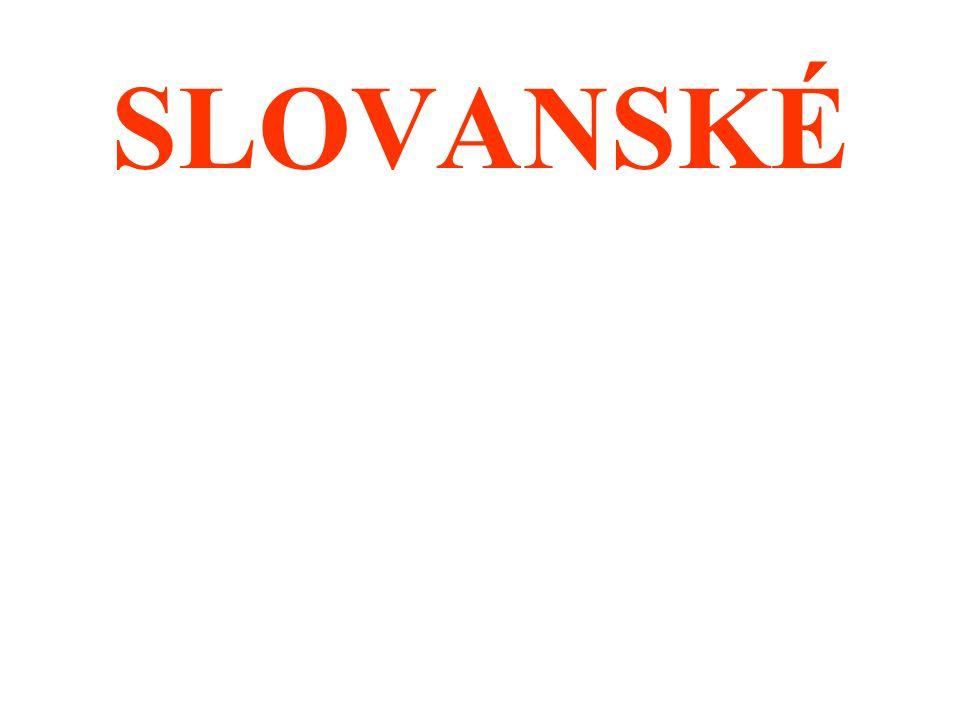 SLOVANSKÉ