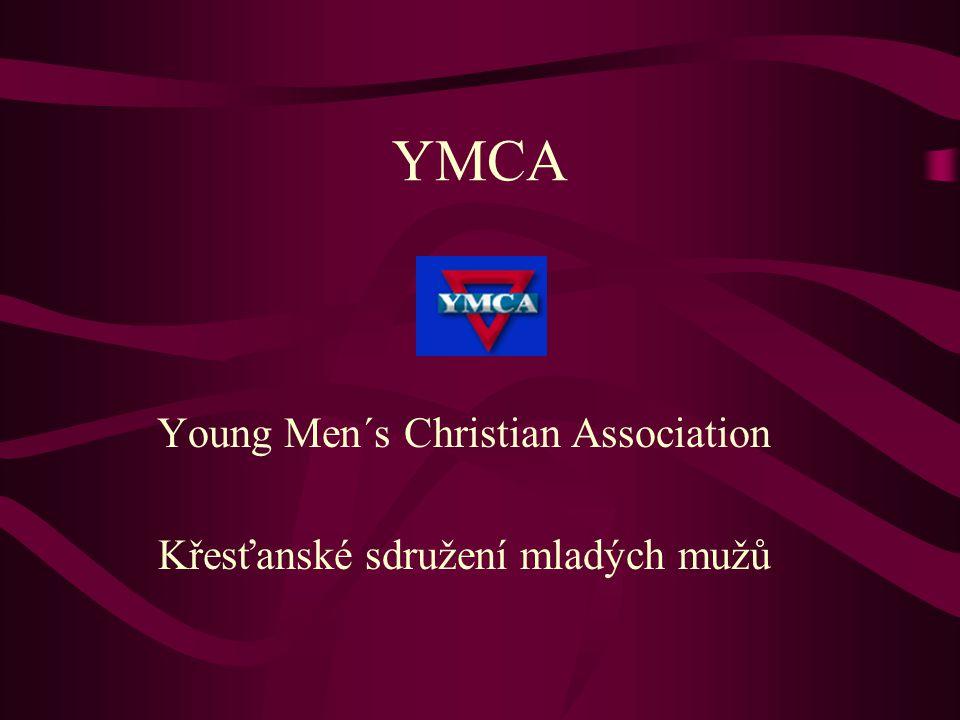 YMCA Young Men´s Christian Association Křesťanské sdružení mladých mužů