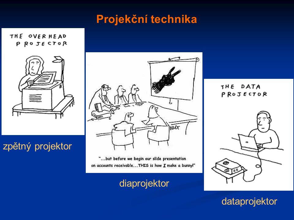 zpětný projektor dataprojektor diaprojektor Projekční technika