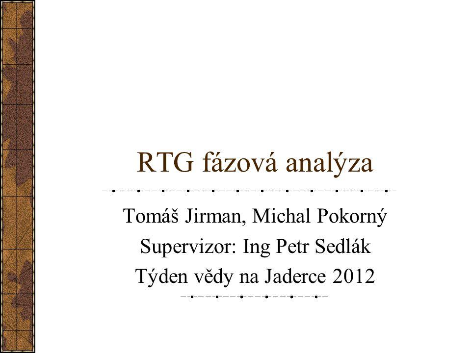 RTG fázová analýza Tomáš Jirman, Michal Pokorný Supervizor: Ing Petr Sedlák Týden vědy na Jaderce 2012