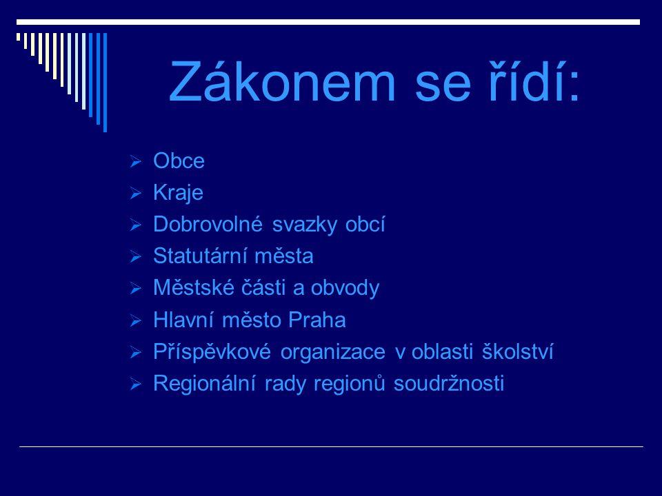 Vnější kontrola Občané ÚFO NKÚ Kraj- přezkoumávání hospodaření ÚSC – z.č. 420/2004 Sb.,