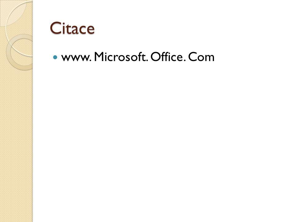Citace www. Microsoft. Office. Com
