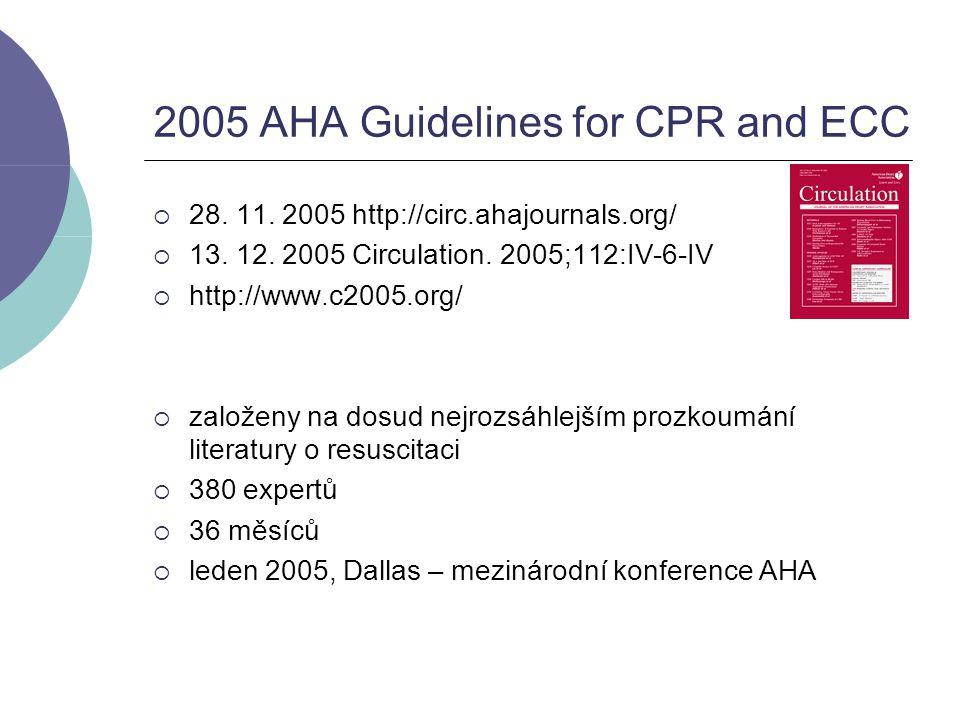 Náhlá srdeční zástava (SCA)  Evropa:700 000/rok  USA: 400 000 - 460 000/rok  jen u asi 1/3 pokus o KPR laiky, kvalitní KPR ještě méně  pokus o KPR u 2/3  přežití 5 - 10% (VF 15%), při zástavě v nemocnici 17%  kvalitní KPR až ztrojnásobí šanci  velká část má VF  přežití VF SCA až 49 – 74% při užití komunitních programů s AED