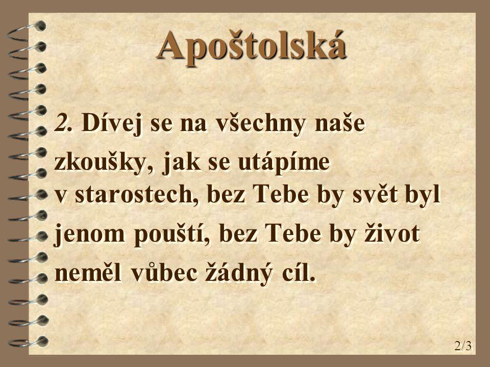 Apoštolská 3.