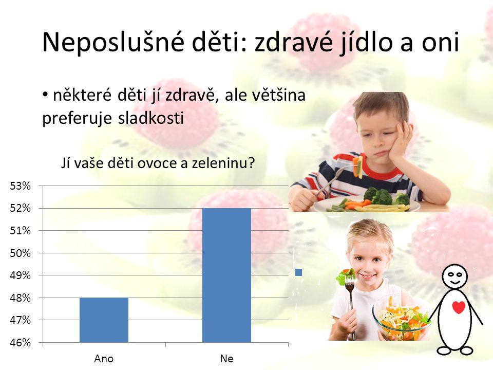 Neposlušné děti: zdravé jídlo a oni některé děti jí zdravě, ale většina preferuje sladkosti Jí vaše děti ovoce a zeleninu