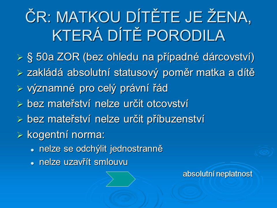 POROD S UTAJENÍM TOTOŽNOSTI MATKY  Hrušáková, M., Králíčková, Z.: Anonymní a utajené mateřství v České republice – utopie nebo realita.
