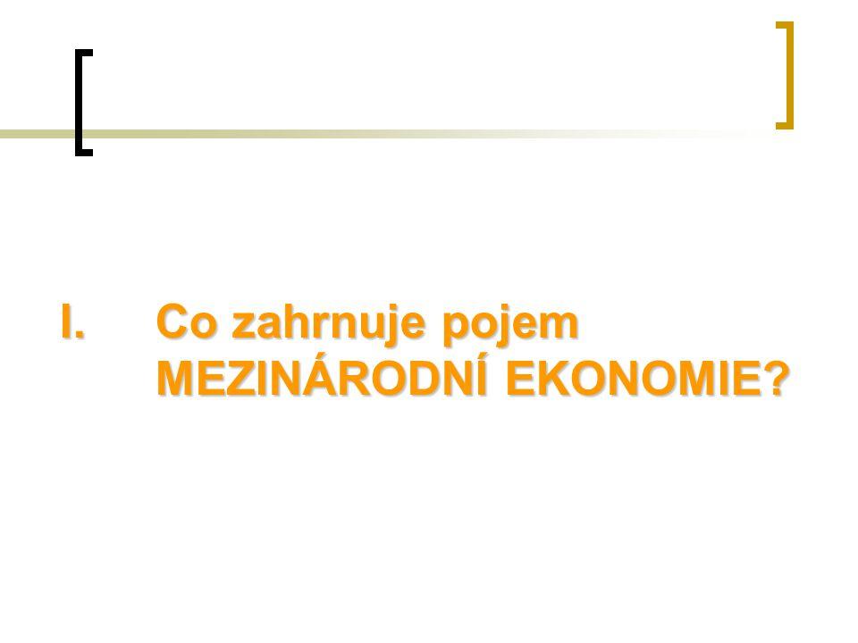 Mezinárodní ekonomie řeší ekonomické interakce mezi zeměmi.