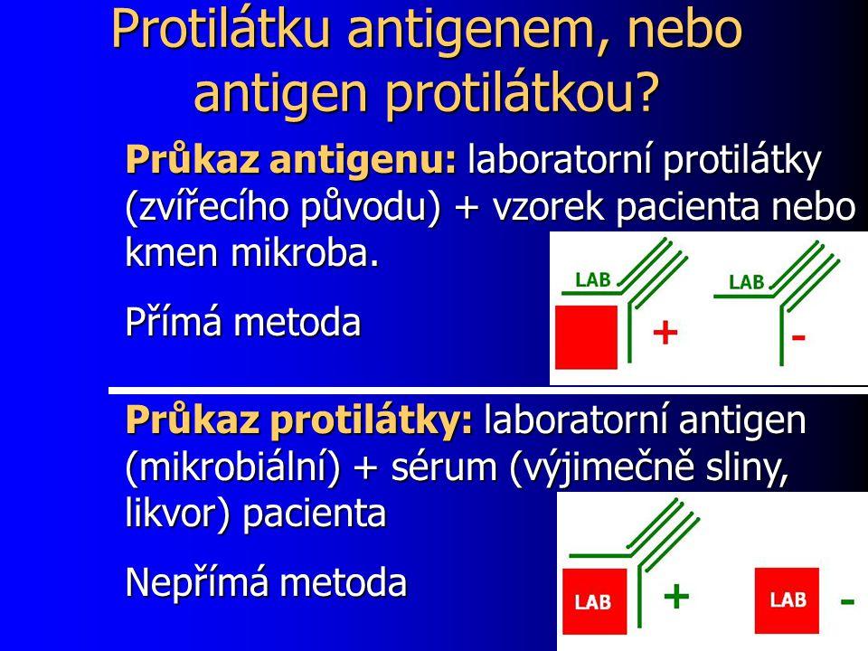 Protilátku antigenem, nebo antigen protilátkou.