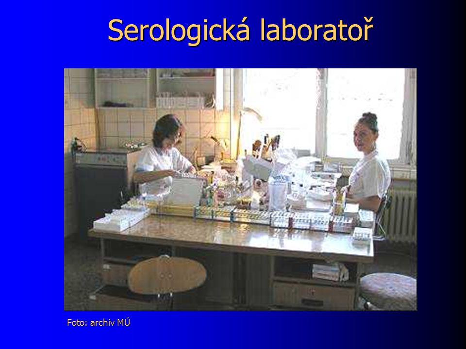 Serologická laboratoř Foto: archiv MÚ
