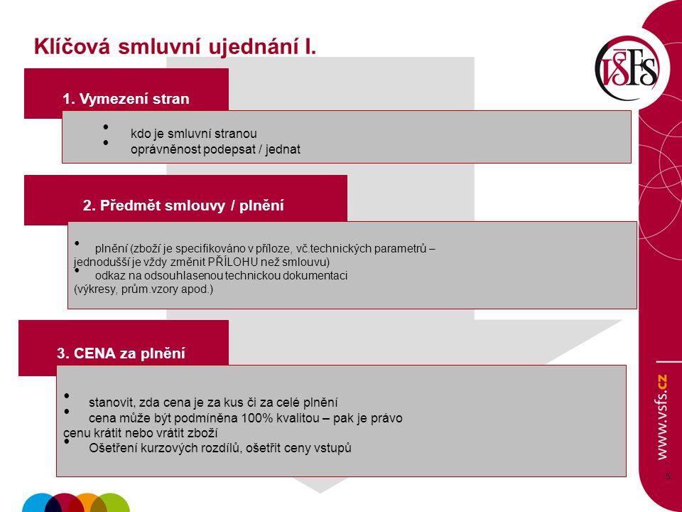 5 5.5. 1. Vymezení stran 3. CENA za plnění kdo je smluvní stranou oprávněnost podepsat / jednat stanovit, zda cena je za kus či za celé plnění cena mů