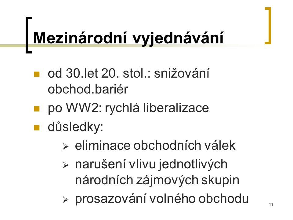 11 Mezinárodní vyjednávání od 30.let 20.