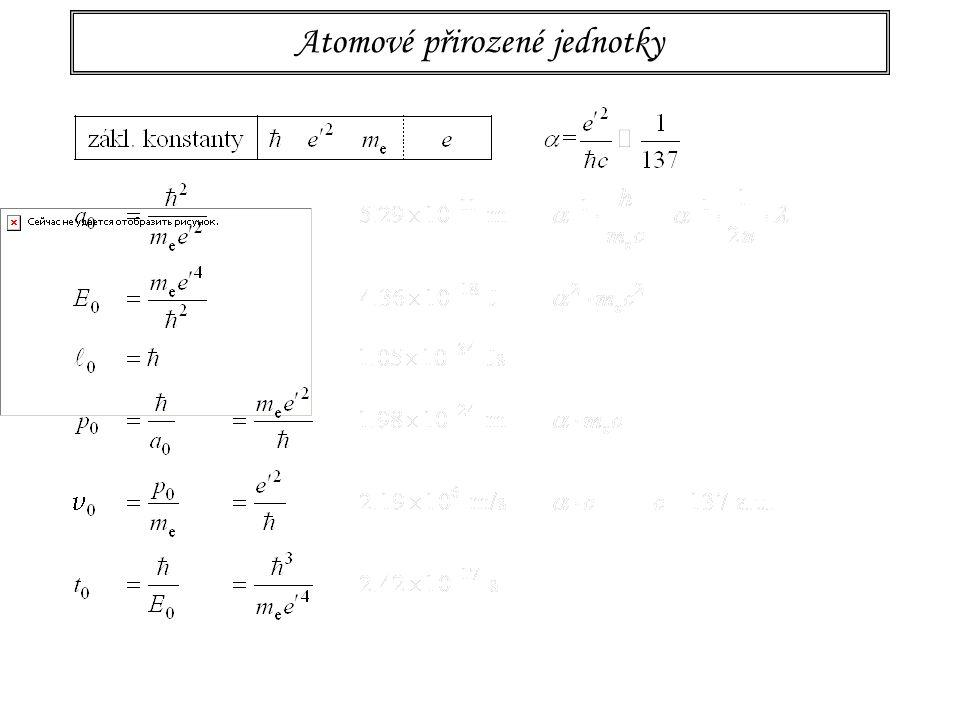Atomové přirozené jednotky -- měřítko světa atomů