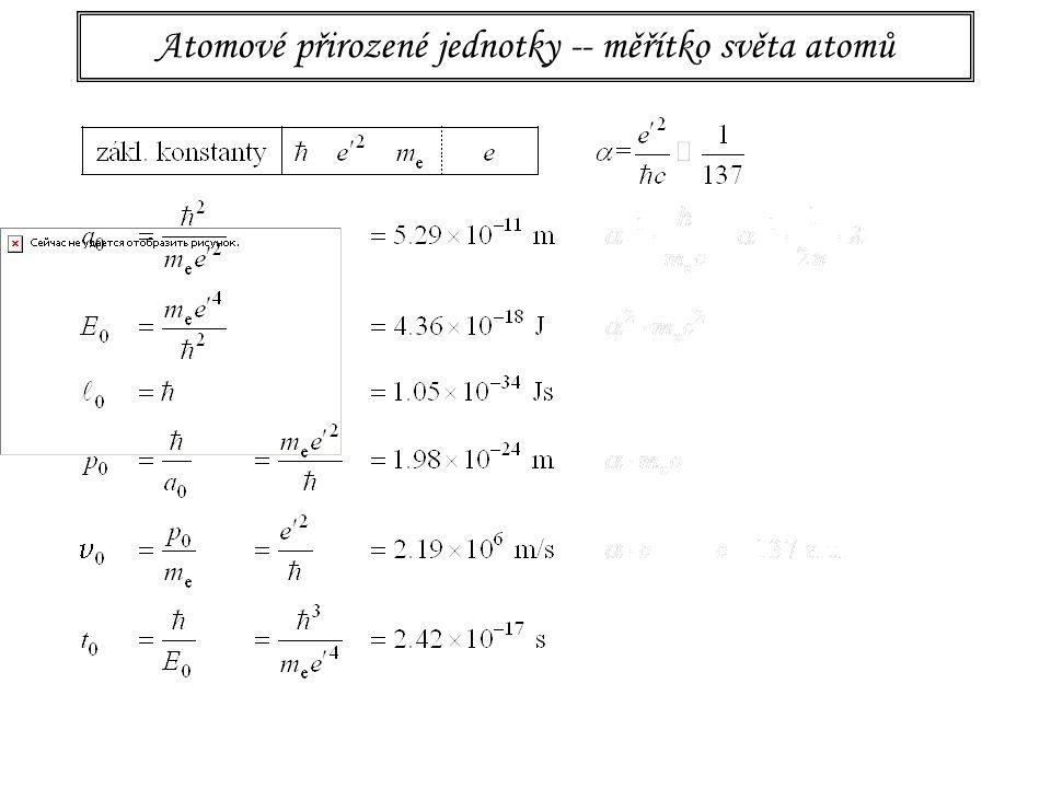 Atomové přirozené jednotky a relativita