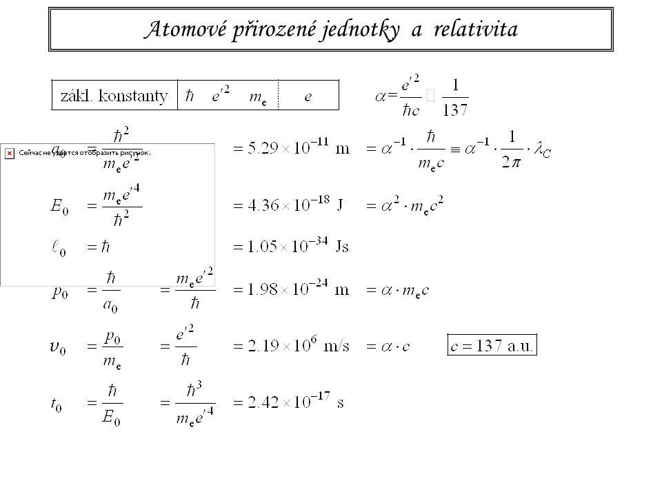 115 Planckovy přirozené jednotky Byly první a zdály se hodně divné, ale...