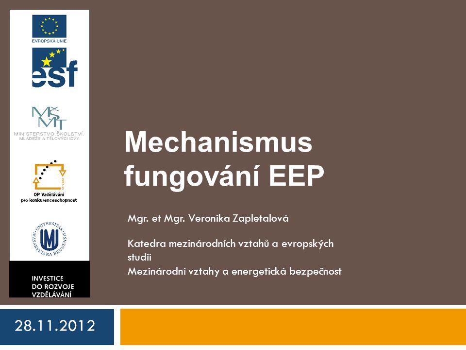 Mechanismus fungování EEP 28.11.2012 Mgr. et Mgr.