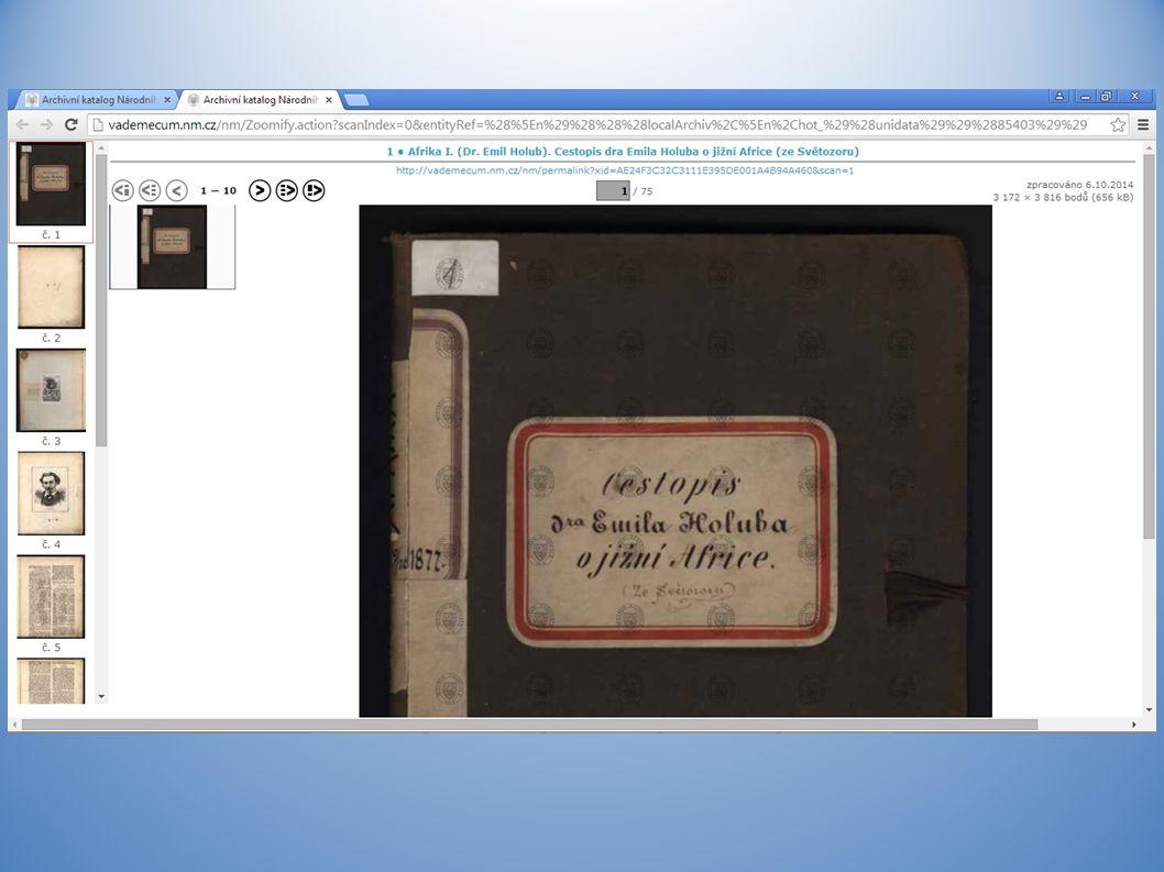 Budoucnost VadeMeCa v Národním Muzeu – zapojení dalších modulů – listiny (ANM), pečetě (ANM) – implementace modulu fotoarchiv k modulu inventáře (NpM) – zapojení dalších modulů – fotoarchivy z HM – indexování – vyhledávání přes google – upgrade modulů na internetové aplikace