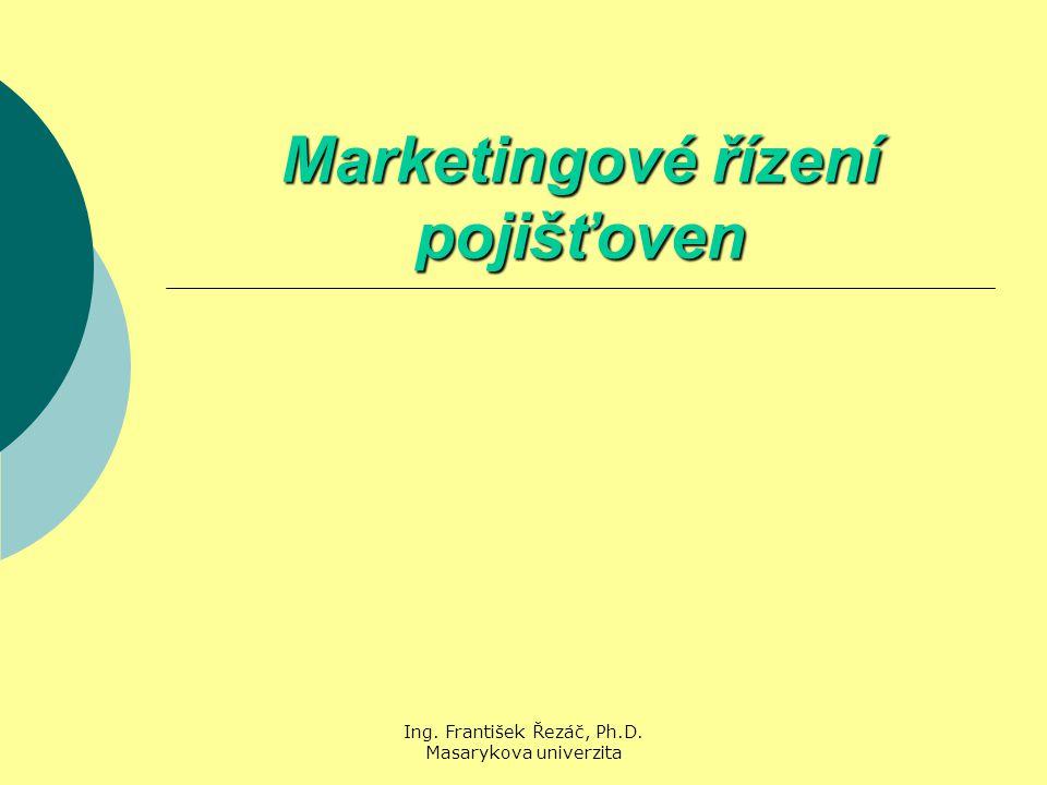 Ing. František Řezáč, Ph.D. Masarykova univerzita Marketingové řízení pojišťoven