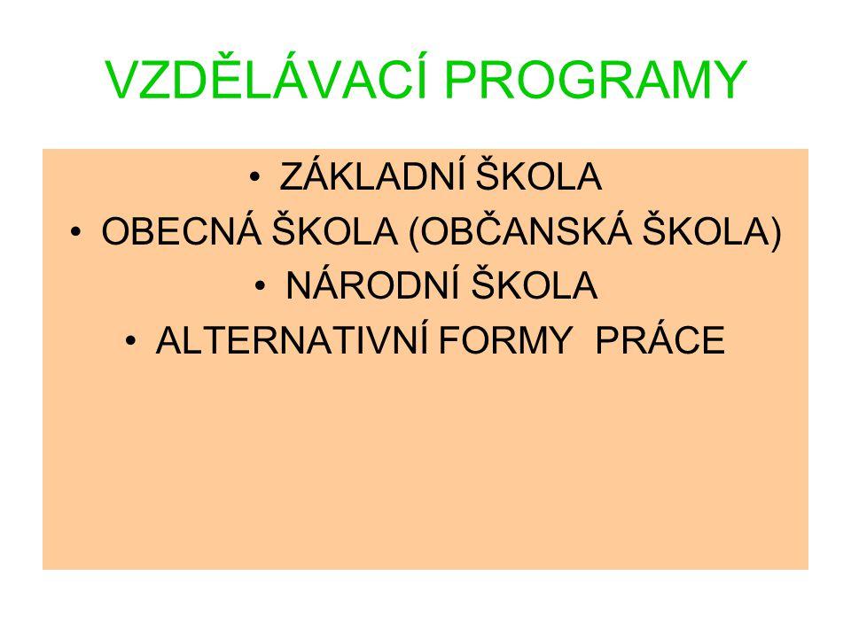 Rámcové vzdělávací programy stanoví zejména (§4): - konkrétní cíle - formy - délku - povinný obsah vzdělávání - organizační uspořádání - profesní profil - podmínky průběhu a ukončování vzdělávání - zásady pro tvorbu školních vzdělávacích programů - podmínky pro vzdělávání žáků se speciálními vzdělávacími potřebami - nezbytné materiální, personální a organizační podmínky podmínky BOZ
