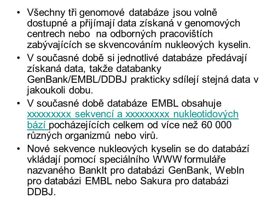 Editory mnohonásobných seřazení: BioEdit (North Carolina State University) http://www.mbio.ncsu.edu/BioEdit/page2.html