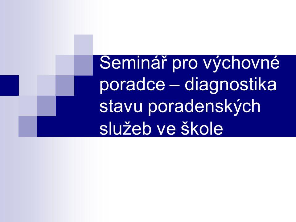 Seminář pro výchovné poradce – diagnostika stavu poradenských služeb ve škole