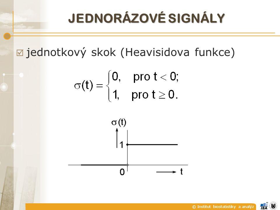 © Institut biostatistiky a analýz JEDNORÁZOVÉ SIGNÁLY  jednotkový skok (Heavisidova funkce)